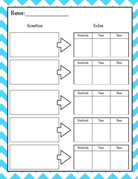 Differentiated Place Value Regrouping Center