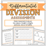 Differentiated Division Assessments: Pre/Post Tests & Grou
