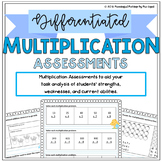 Differentiated Multiplication Assessments: Pre/Post Tests