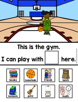 Differentiated Places at School Interactive Book