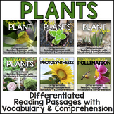 Plants Unit: Differentiated Plants Reading Passages, Vocab