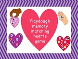Differentiated Play dough HEART game: matching, fine motor