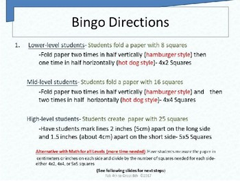 Differentiated Plural Noun PowerPoint (PPT) and Original Bingo