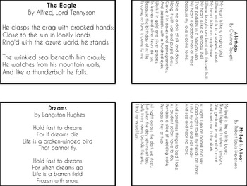 Differentiated Poetry Assignments Bundle grades 1-12