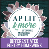 Differentiated Poetry Homework