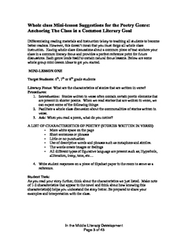 Differentiated Poetry Unit Bundle
