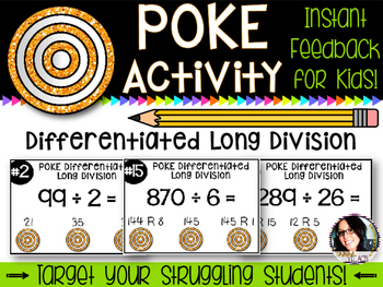 Differentiated Poke Pack for Long Division COMMON CORE ALI