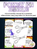 Differentiated Pokey Pin All Year Round Monthly Bundle over 350 pages