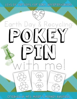 Differentiated Pokey Pin Earth Day Spring Fine Motor  Lite