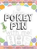 Differentiated Pokey Pin Easter SpringFine Motor  Literacy