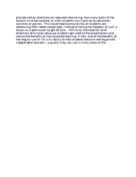Differentiated Power Point Instructional Unit Description