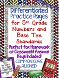 Differentiated Practice Pages 5th Grade  NUMBERS & OPERATI