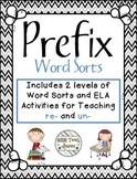 Differentiated Prefix Word Sorts for Un- and Re-