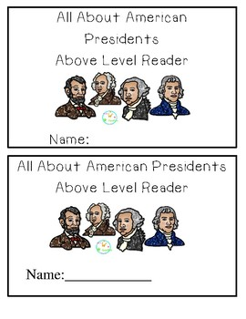 President's Day Emergent Readers