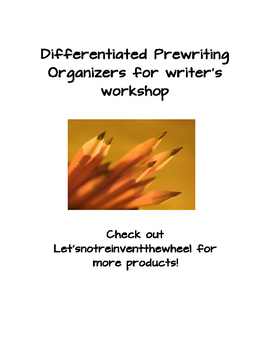 Differentiated Prewriting Organizers