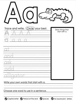 Printing My Alphabet Workbook