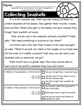 Differentiated Problem and Solution Reading Comprehension Pack - Set Two