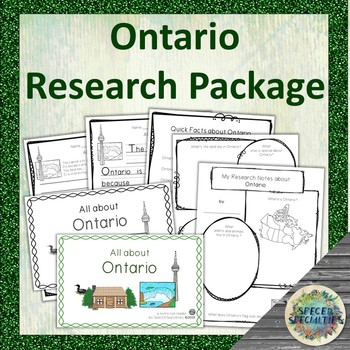 Differentiated Province of Canada Research Package (Ontario)