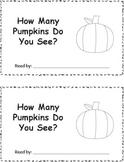 Differentiated Pumpkin Emergent Readers