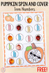 Differentiated Pumpkin Spin and Cover Math and Literacy Activities