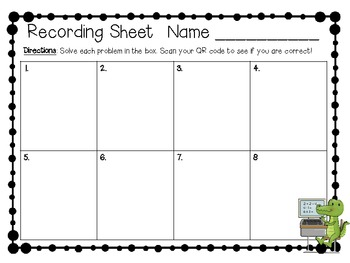 Differentiated QR Code Task Cards: Adding with Regrouping