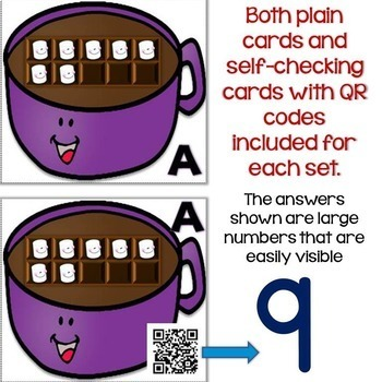 Winter Number Sense QR Code Task Cards Bundle Differentiated