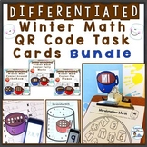 Winter Number Sense QR Code Task Cards Bundle Differentiated