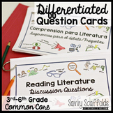 Reading Discussion Questions Differentiated Literature