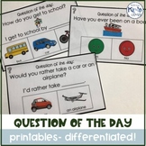 Differentiated Question of the Day Pack for Entire YEAR no