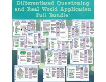 Differentiated Questioning and Real World Application Full Bundle!