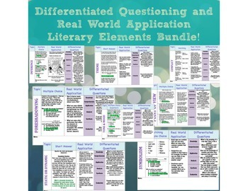Differentiated Questioning and Real World Application Lit Elements Bundle