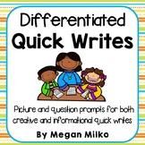 Differentiated Quick writes
