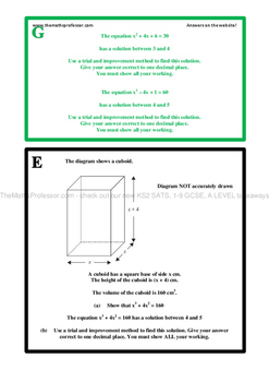 Differentiated (RAGE) Iteration/Trial and Improvement-www.TheMathsProfessor.com