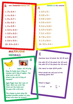 Differentiated (RAGE) Multiplying Decimals - www.TheMathsP