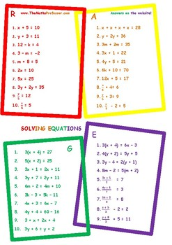Differentiated (RAGE) Solving Equations- www.TheMathsProfe