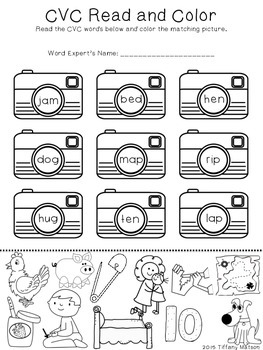 Differentiated Read and Color {No Prep Printables}