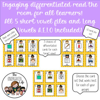 Differentiated Read the Room Growing Bundle: Vowels