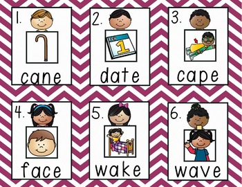 Differentiated Read the Room: Long Vowel A color/b&w, recording sheets, extras!