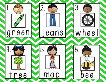 Differentiated Read the Room: Long Vowel E color/b&w, recording sheets, extras!
