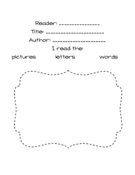 Differentiated Read to Self Recording Sheet