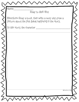 Read to Self Worksheets (differentiated)