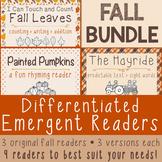 Differentiated Emergent Readers FALL BUNDLE {Leaves, Pumpkins & Hayrides}
