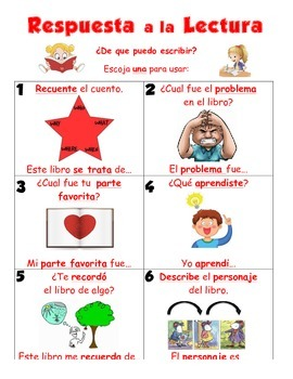 Differentiated Readers Response Prompts English/Spanish