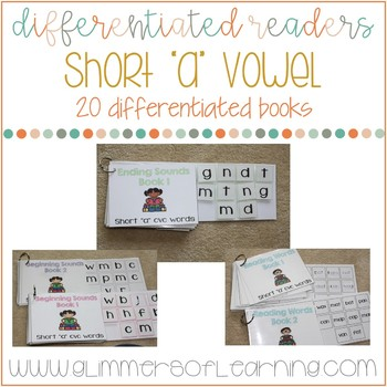 """Differentiated Readers: Short """"a"""" vowel cvc words"""