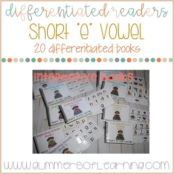"""Differentiated Readers: Short """"e"""" vowel cvc words"""