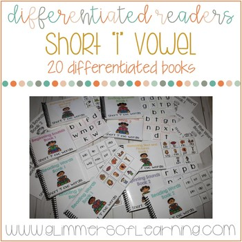 """Differentiated Readers: Short """"i"""" vowel cvc words"""