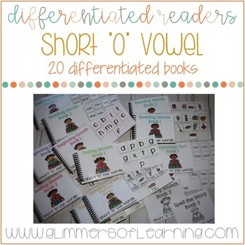 "Differentiated Readers: Short ""o"" vowel cvc words"