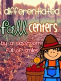 Differentiated Reading Centers for Fall