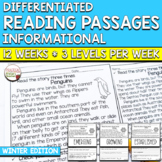 Differentiated Reading Comprehension Passages | 3 Levels |
