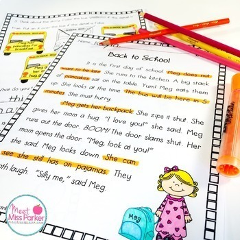 Differentiated Reading Comprehension Passages and Questions 2nd Grade